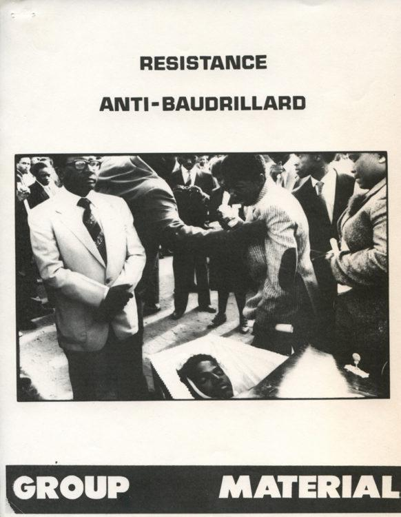 """Resistance (Anti-Baudrillard)"" panel discussion transcript zine"