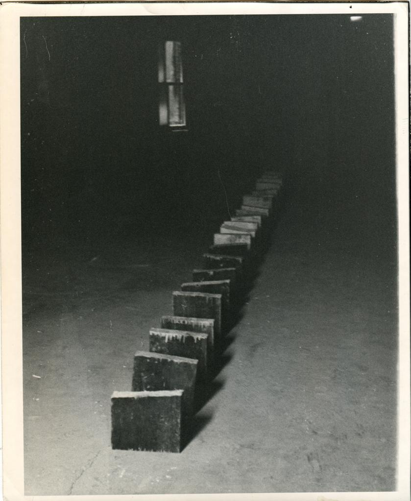 "Richard Nonas, ""Blocks of Wood,"" 1970"