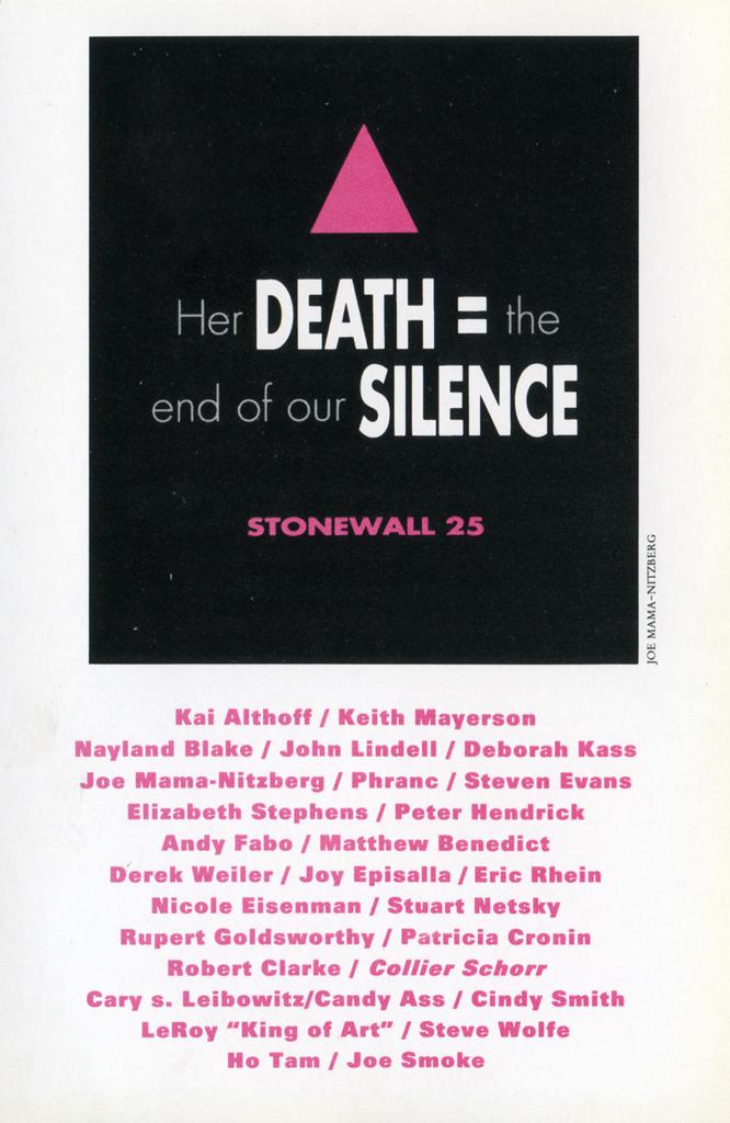 """Invitation for """"Stonewall 25: Imaginings of the Gay Past, Celebrating the Gay Present"""""""