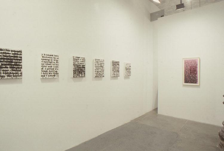 "Installation view from ""White Room: Glenn Ligon"""