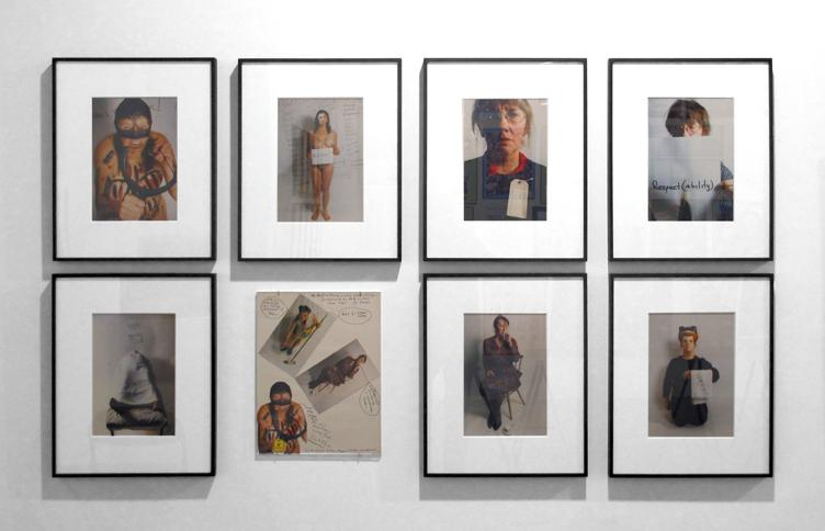 "Installation view of ""Jo Spence: Work (Park III), The History Lesson"""